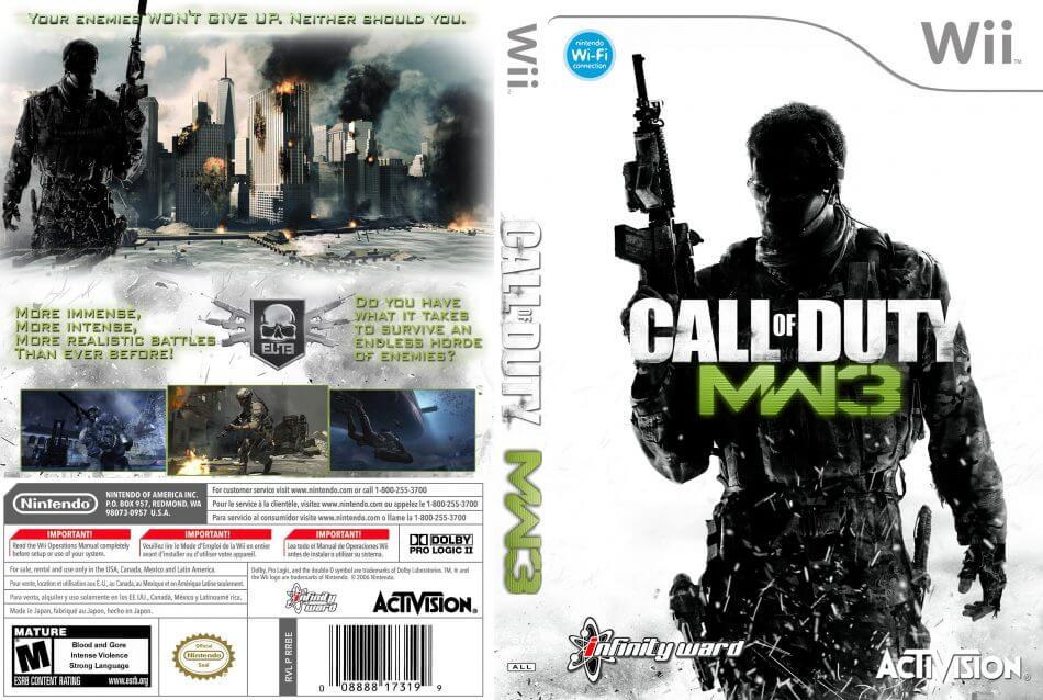 Call Of Duty Modern Warfare 3 Wii Rom Iso Nintendo Wii Download